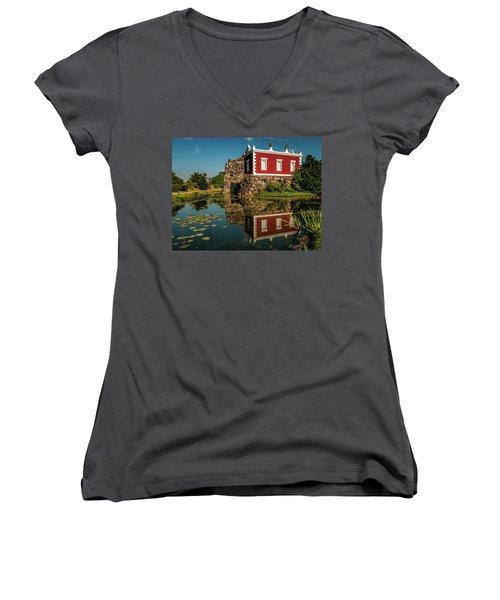 Magic Rock Women's V-Neck T-Shirt (Junior Cut) by Martina Thompson