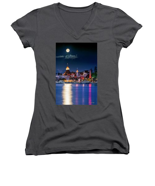 Women's V-Neck (Athletic Fit) featuring the photograph Magical Del by Dan McGeorge