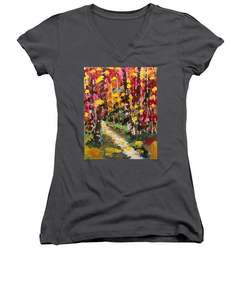 Magical Forest Women's V-Neck (Athletic Fit)