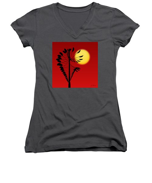 Magical Mobile And Sun Women's V-Neck (Athletic Fit)
