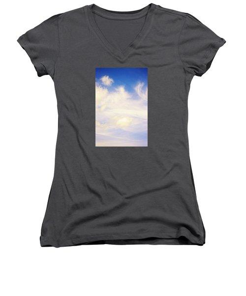 Women's V-Neck T-Shirt (Junior Cut) featuring the photograph Magical Sky Part 4 by Janie Johnson