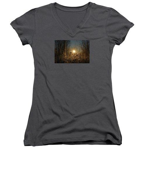 Magical Sunrise Women's V-Neck T-Shirt (Junior Cut) by Dacia Doroff
