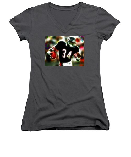 Magical Walter Payton Women's V-Neck (Athletic Fit)