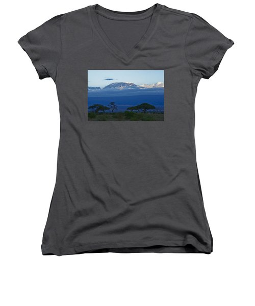 Magnificent Kilimanjaro Women's V-Neck (Athletic Fit)