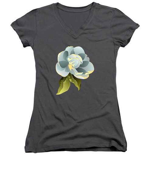 Magnolia Blossom Graphic Women's V-Neck T-Shirt