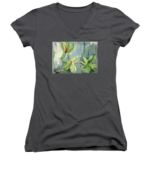 Magnolia Grove4 Women's V-Neck T-Shirt