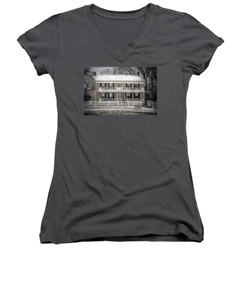 Mahaffie Stagecoach Stop Women's V-Neck T-Shirt