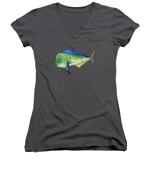 Mahi Mahi Women's V-Neck T-Shirt