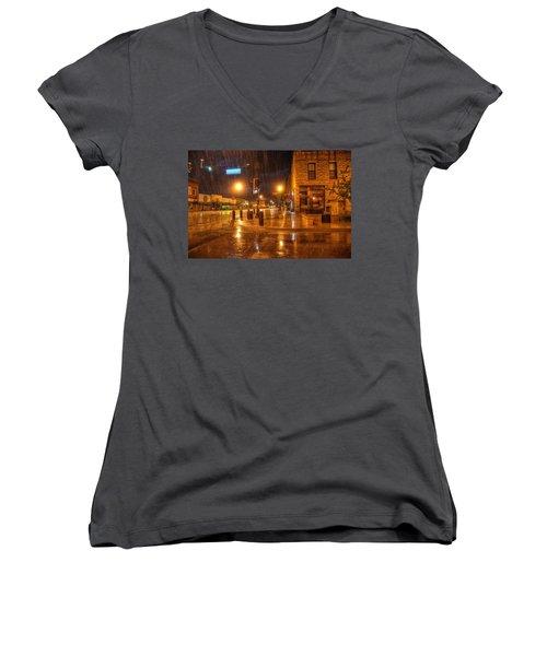 Main And Hudson Women's V-Neck T-Shirt (Junior Cut) by Fiskr Larsen
