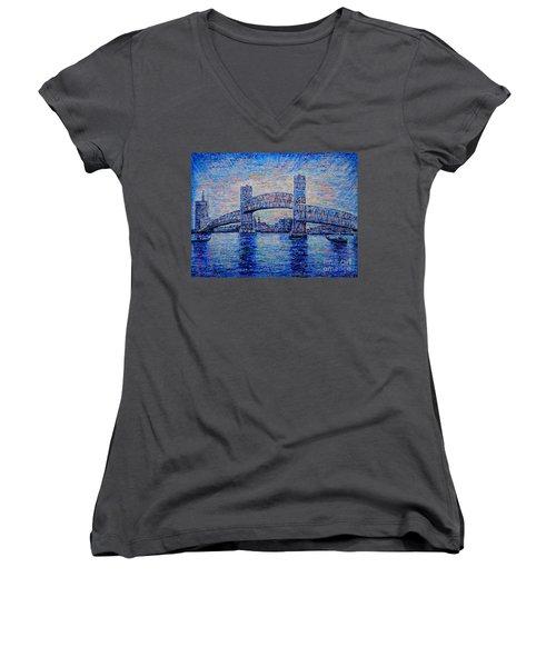 Main St.bridge,#2 Women's V-Neck T-Shirt
