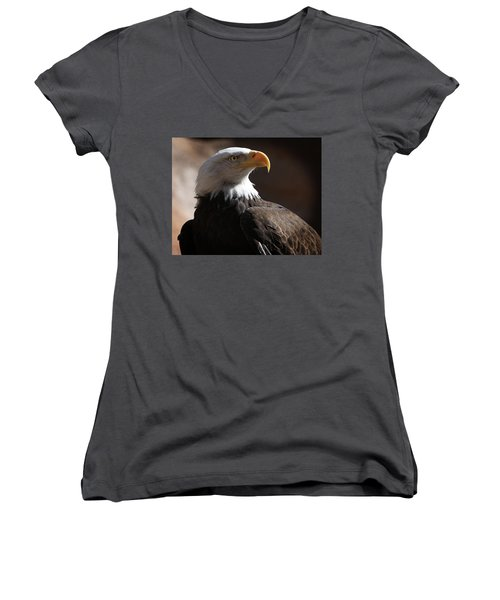 Majestic Eagle Women's V-Neck (Athletic Fit)
