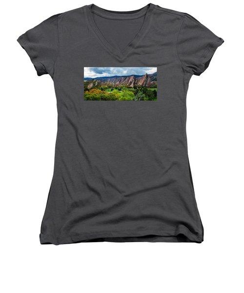 Majestic Foothills Women's V-Neck T-Shirt