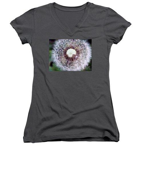Make A Wish Women's V-Neck T-Shirt (Junior Cut) by Christy Ricafrente