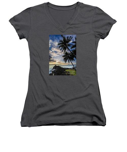 Makena Maui Hawaii Sunset Women's V-Neck
