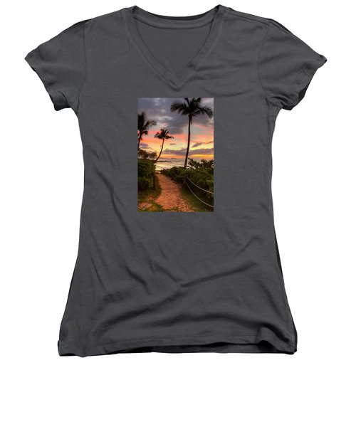 Makena Sunset Path Women's V-Neck