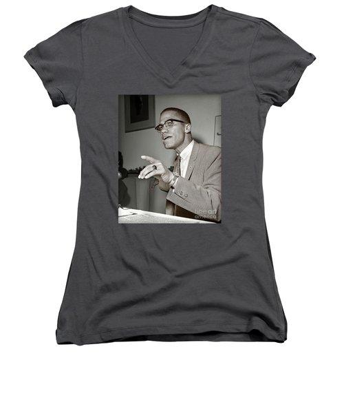 Malcolm X  Women's V-Neck