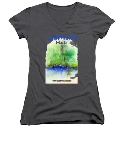 Malfini Beach Shirt Women's V-Neck (Athletic Fit)