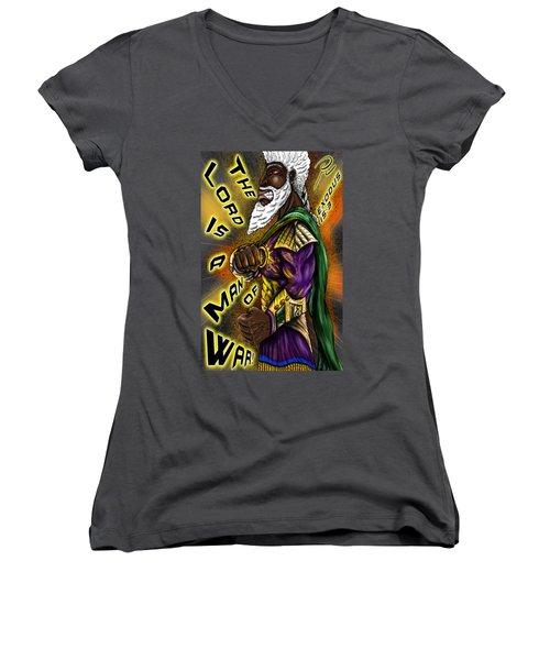 Man Of War T-shirt Design Women's V-Neck