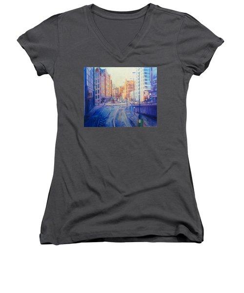 Manchester Light And Shade Women's V-Neck T-Shirt