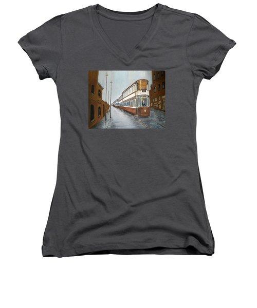 Manchester Piccadilly Tram Women's V-Neck T-Shirt