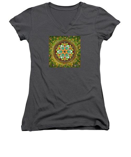 Mandala Evergreen Women's V-Neck T-Shirt
