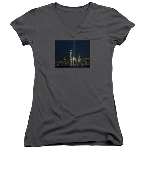 Manhattan 9.11.2015 Women's V-Neck (Athletic Fit)