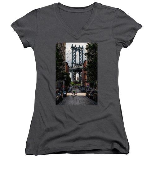 Manhattan Bridge  Women's V-Neck