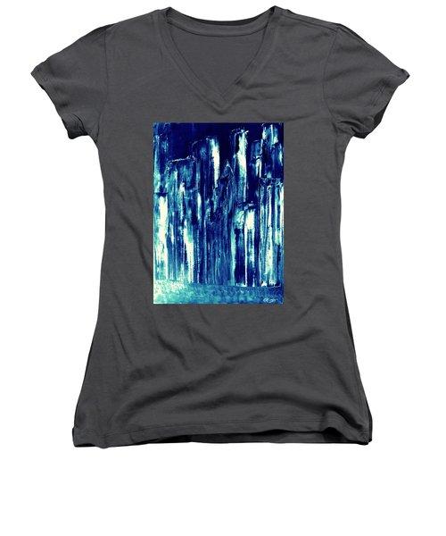 Manhattan Nocturne Women's V-Neck T-Shirt