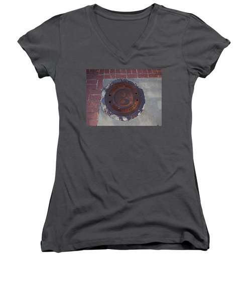 Manhole II Women's V-Neck (Athletic Fit)