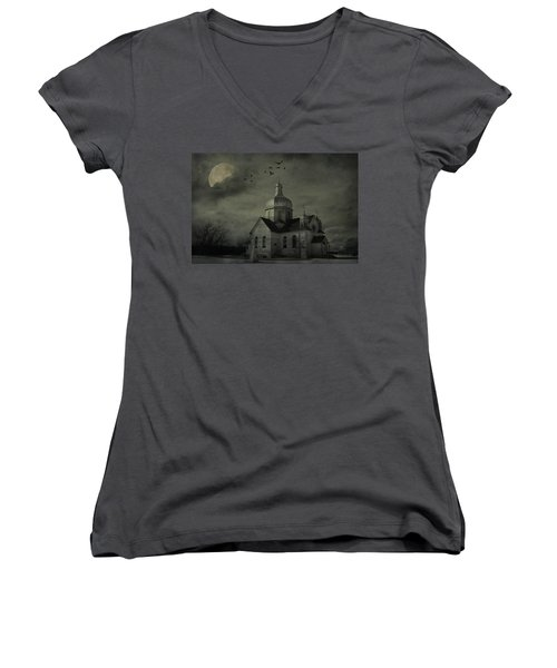 Mannerisms Of Midnight  Women's V-Neck T-Shirt