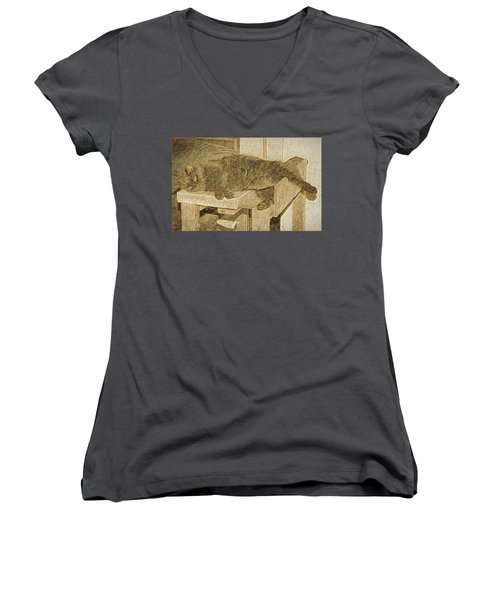 Mannie Is Relaxing Women's V-Neck