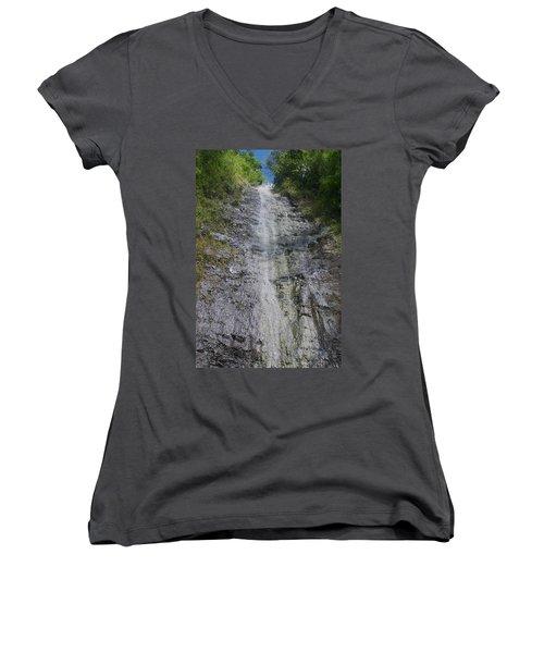 Manoa Falls Women's V-Neck T-Shirt