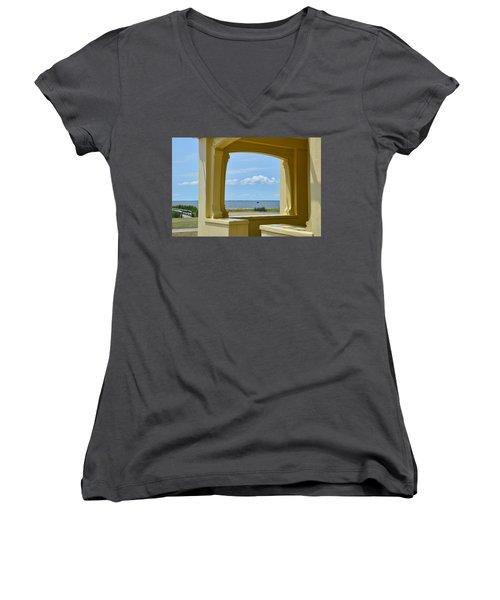 Mansion View Women's V-Neck T-Shirt (Junior Cut) by JAMART Photography