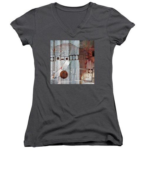 Maps #20 Women's V-Neck T-Shirt (Junior Cut)