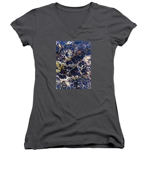 Marble Stone Texture Wall Tile Women's V-Neck T-Shirt (Junior Cut) by John Williams