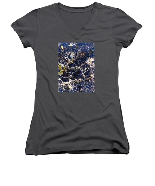 Marble Stone Texture Wall Tile Women's V-Neck (Athletic Fit)