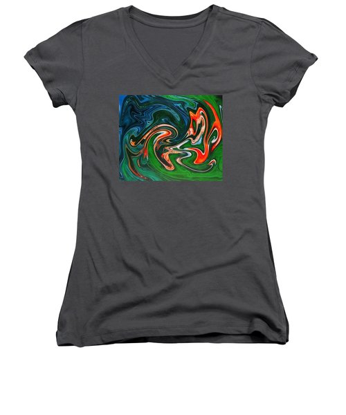 Marble Texture Women's V-Neck T-Shirt