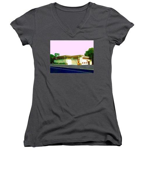 Marconi's Restaurant Women's V-Neck T-Shirt