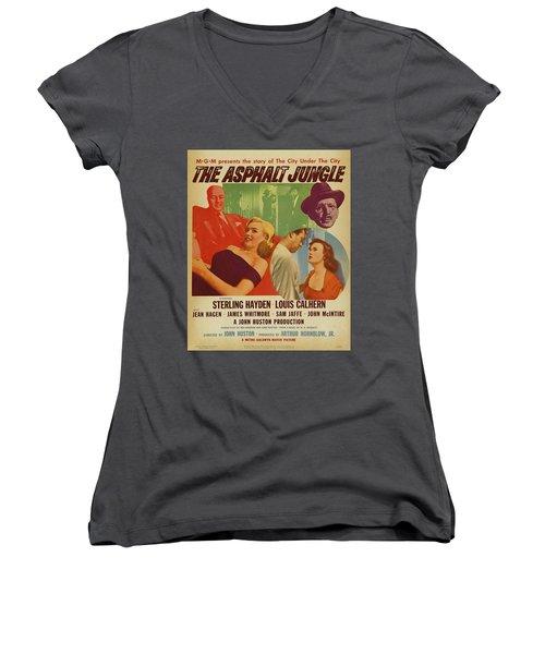 Marilyn Monroe In The Asphalt Jungle Movie Poster Women's V-Neck