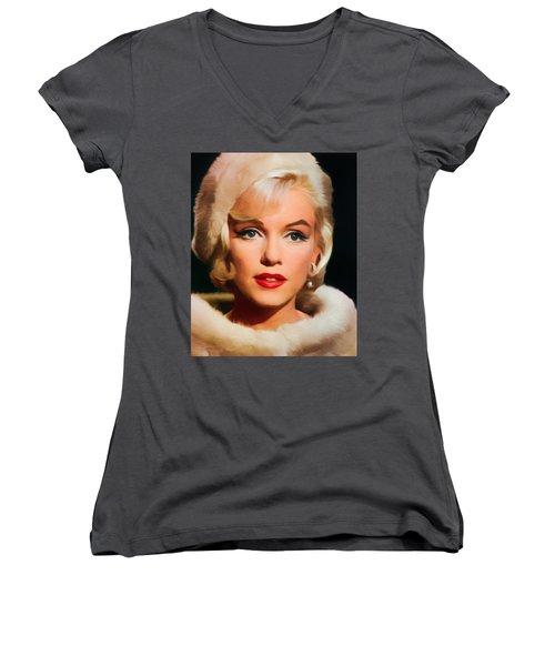 Marilyn Monroe Women's V-Neck