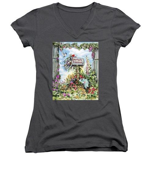 Marilyn's Greenhouse Women's V-Neck