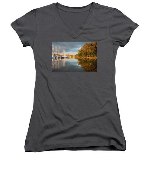 Marina Sunset 10 Women's V-Neck