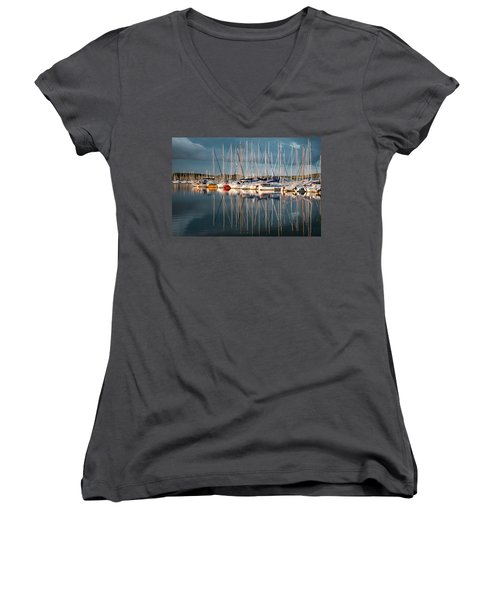 Marina Sunset 7 Women's V-Neck