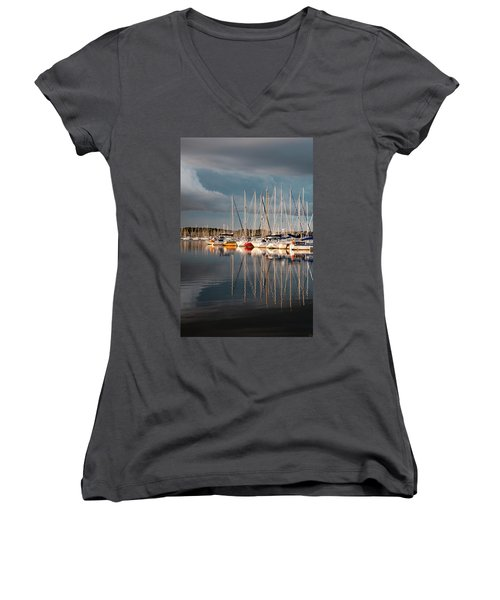 Marina Sunset 9 Women's V-Neck