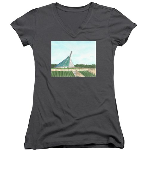Marine Corps Museum From The Chapel Women's V-Neck (Athletic Fit)