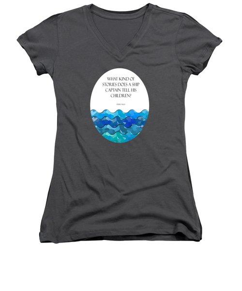 Maritime Humor For A Nursery Room Women's V-Neck T-Shirt