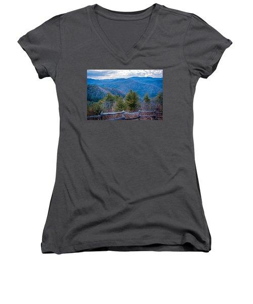 Mark Hannah Overlook Cataloochee Women's V-Neck T-Shirt