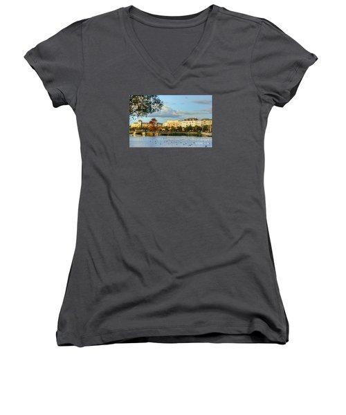 Market Common Myrtle Beach Women's V-Neck (Athletic Fit)