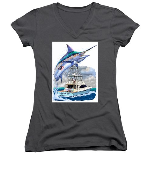 Marlin Commission  Women's V-Neck (Athletic Fit)