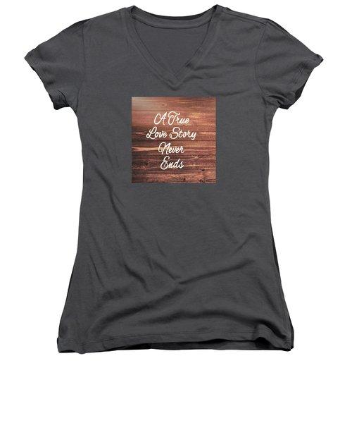 Marriage Motto Women's V-Neck T-Shirt (Junior Cut) by JAMART Photography